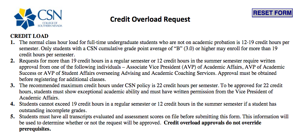 csn credit overload