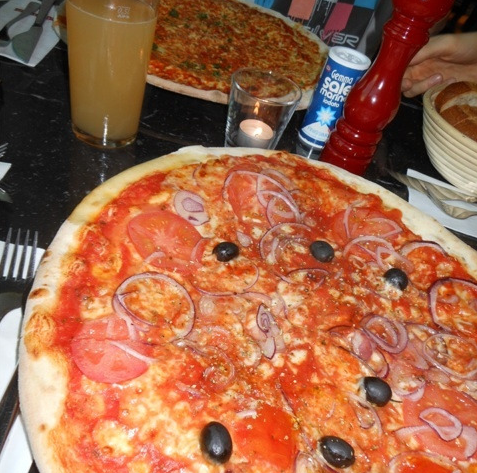 huge pizza