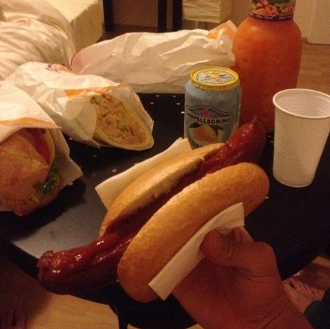 dinner late sandwich
