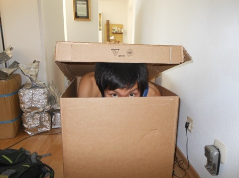 mune in cardboard box