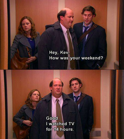 kevin watch tv