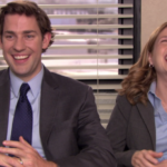 jim and pam laugh