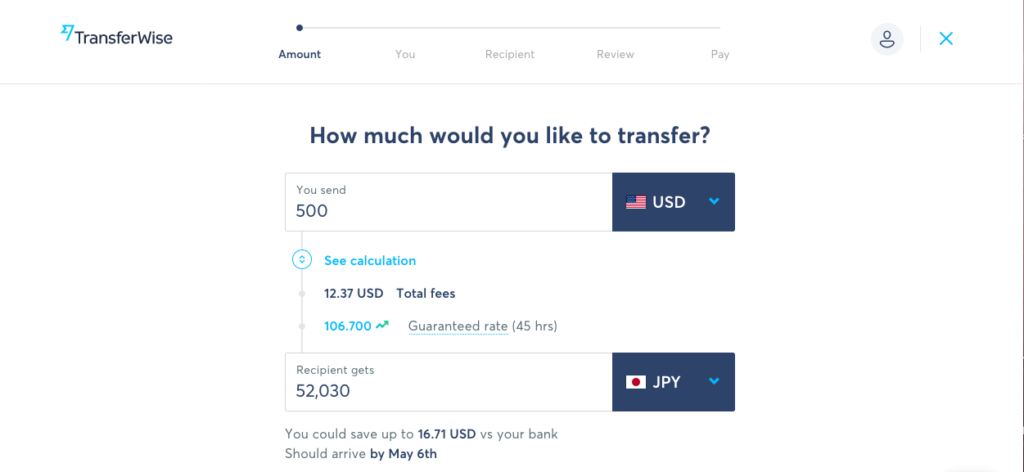 transferwise 500